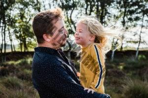 Fotoshoot papa dochter